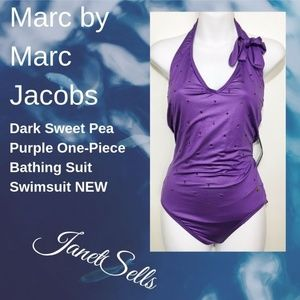 Marc by Marc Jacobs Sweet Pea Purple Bathing Suit
